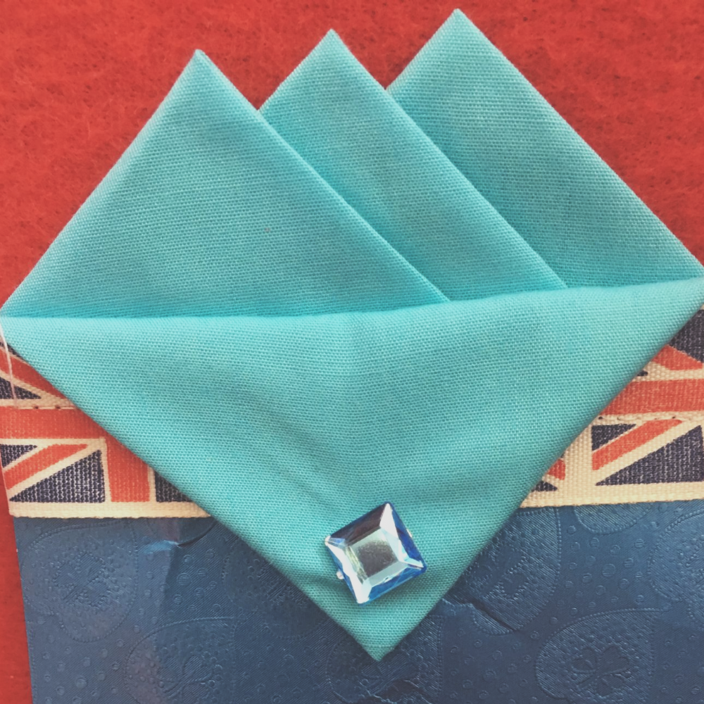 Blue (Baby Blue) Three Point Pocket Hankie & Pin
